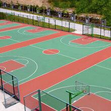 广东向诚田体育径场塑胶跑道篮球场网球场羽毛球场排球场硅PU丙烯酸材料厂家