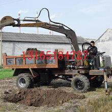 新款四驱随车挖限时优惠标配随车挖挖臂长度四不像随车挖车斗容积图片