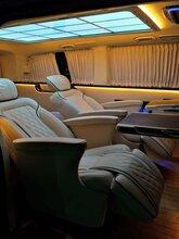上海商務車內飾改裝升級奔馳威霆改裝航空座椅木地板改裝九宮格頂棚