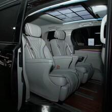 上海商务车改装别克gl8内饰改装升级航空座椅木地板九宫格顶灯图片