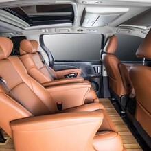 丰田塞纳商务车内饰改装升级航空座椅木地板九宫格顶图片