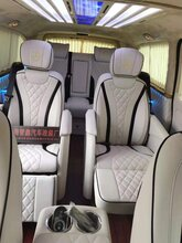 上海汽车改装木地板柚木地板奔驰V260改装航空座椅