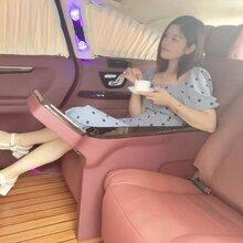 奔馳R350內飾改裝升級豪華航空座椅柚木地板全車改色真皮包覆