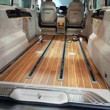 商務車改裝木地板航空座椅沙發床