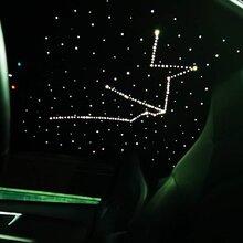 捷豹改裝Alcantara頂棚個性星座星空頂訂制
