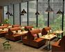 上海晓幸运餐饮家具定制厂家直营咖啡厅卡座沙发时尚简约奶茶店桌椅小吃店