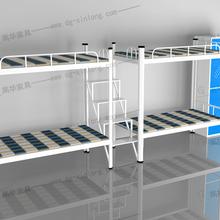 上下铺床铁床学生床员工宿舍双层床加厚铁艺架床工人工地铁床批发厂家图片