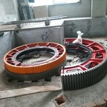 湿法加气砖生产1.83x7米球磨机大齿轮图片