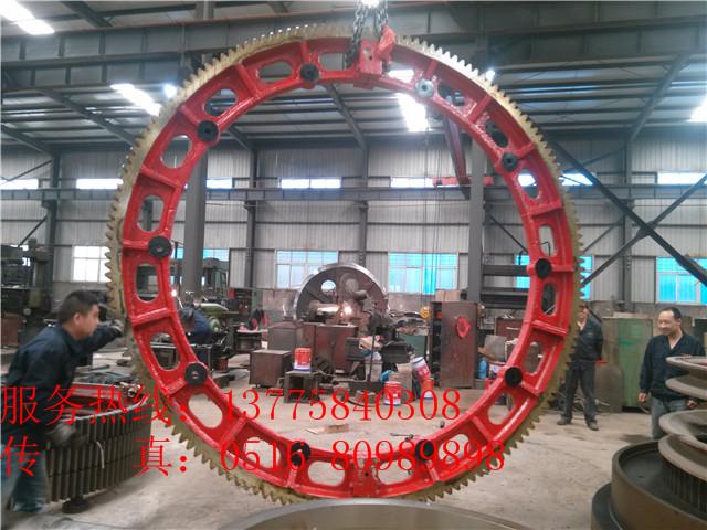山東Φ3x45米zg42crmo回轉窯輪帶大齒圈質量過硬好信譽好的廠家