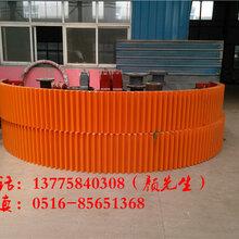 湿法2.2x7米加气砖生产球磨机大齿圈中控轴端盖铸件厂家
