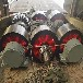 福建2.0米鑄造帶筋板式臥式滾筒烘干機托輪三筒烘干機拖輪設計定制