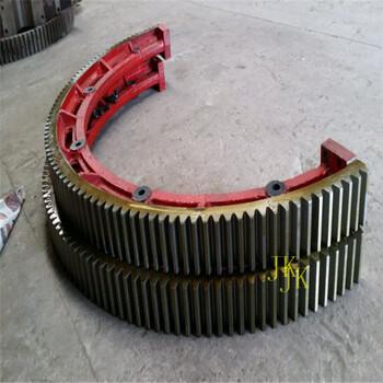彈簧板連接石英砂烘干機大齒輪烘干機大齒環加工