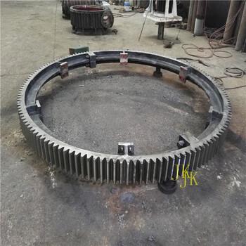 云南1.5米臥式沙子烘干機大齒輪烘干機滾圈制造廠家