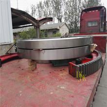 武汉142齿22模铸钢烘干机大齿轮回转窑大齿圈设计测量加工图片