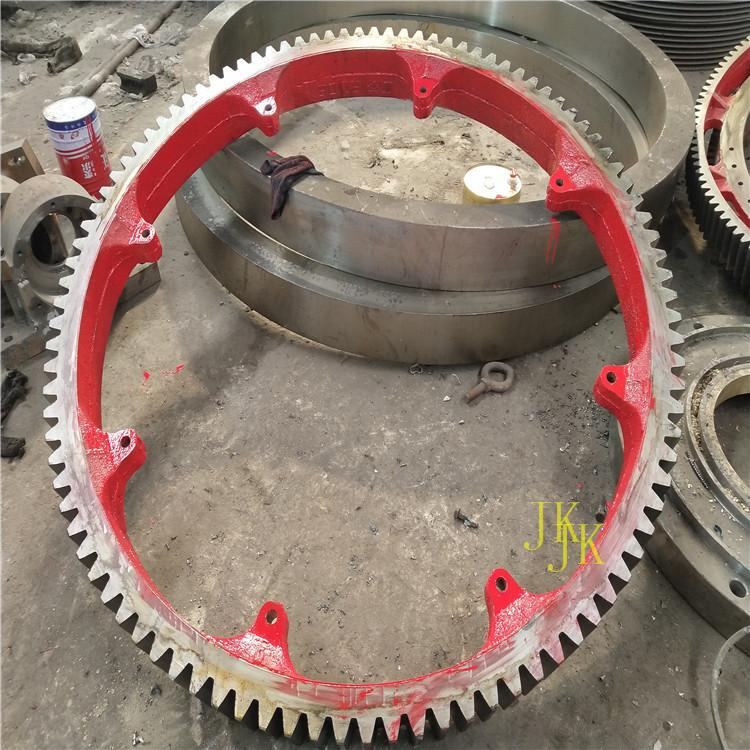 泰州弹簧板结构粉煤灰烘干机大齿轮烘干窑挡轮加工销售定制