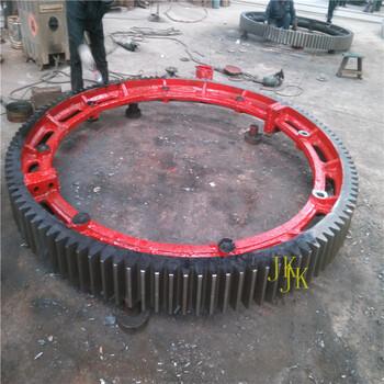 定制分体结构烘干机大齿轮回转炉挡轮优惠销售