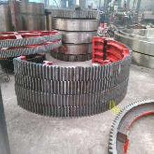 泰州弹簧板结构粉煤灰烘干机大齿轮烘干窑挡轮加工销售定制图片