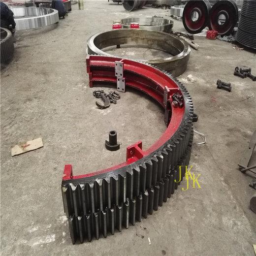1.4米米矿渣耐磨性好的烘干机大齿轮烘干机大齿圈设计测量加工