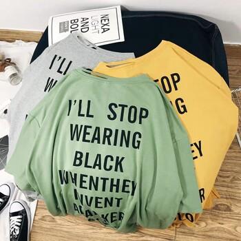 武汉哪里有大码短袖批发宽松中长款女装T恤低价拿货韩版短袖批发