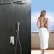 酒店卫浴绮美斯暗装花洒套装304不锈钢入墙式大淋浴带水龙头卫浴淋浴器喷头花洒