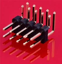 2.54双排弯针贴片排针2.54尺寸2.54贴片排针