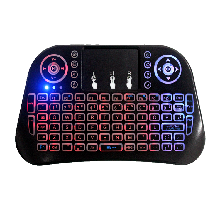 跑马灯i10无线键盘多媒体触摸迷你无线键盘智能电视机顶盒电脑通用图片