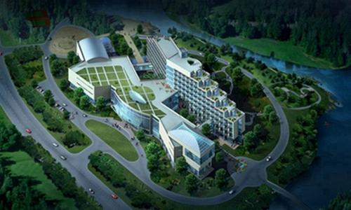 玉溪通海县基础设施鸟瞰图设计