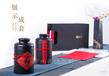 義統包裝生鐵茶葉圓罐高檔復古茶葉包裝禮盒2罐裝1半斤裝16106<高>