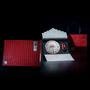 广州义统包装守真红色普洱白茶饼装配太空罐高档茶叶礼盒定制批发图片