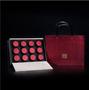 广州义统包装守真红色12罐小茶罐单泡装圆罐茶叶盒高档礼盒包装图片