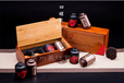 广州义统包装马口铁1673拉丝咖茶叶罐茶叶包装竹盒4圆罐