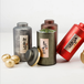 廣州義統包裝馬口鐵9863兩拉絲綠鐵罐一斤裝茶葉包裝禮盒定制批發