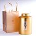 广州义统包装马口铁9626茶也包装金色圆形铁罐3-5斤装茶叶包装定制批发