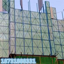 现货冲孔建筑外墙爬架网蓝色工地安全网喷塑爬架网