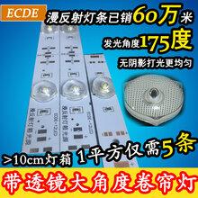 3030漫反射灯条软膜天花光源透镜卷帘灯大角度透镜灯卡布灯箱灯条