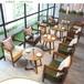 西安甜品店餐饮桌椅甜品店实木桌椅定做
