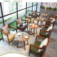 西安甜品店餐飲桌椅甜品店實木桌椅定做