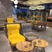 主題咖啡廳布藝沙發沙發西安生產廠家