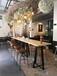 西餐廳吧桌烘焙店實木吧桌