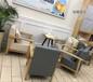 咖啡廳沙發西餐廳實木沙發