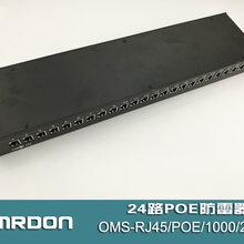 OMS-RJ45/POE/1000/2424路千兆POE网络防雷器