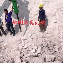 中铁十六局使用柳州博奥大型劈裂机施工案例图片