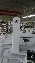 玻璃钢里程碑百米桩-农田界桩-标志桩生产价格图片