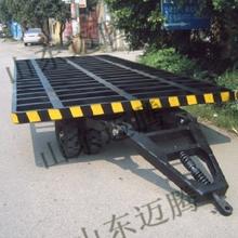 迈腾管材运输拖车,3T集装箱牵引拖车,MT3T高低板拖车,厂区用车,拖车载货3T车图片