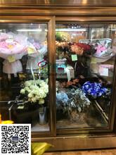 花店风冷鲜花保鲜柜,延长鲜花保质期,玻璃鲜花展示柜定做图片