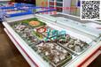周口超市冰台展示柜商用海鲜/生鲜冰鲜台自助餐保鲜柜海鲜展示柜
