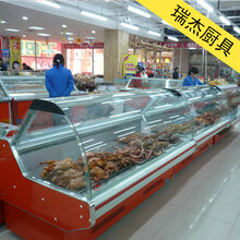 冷藏展示柜,超市熟食展示柜直冷式熟食保鲜展示柜图片
