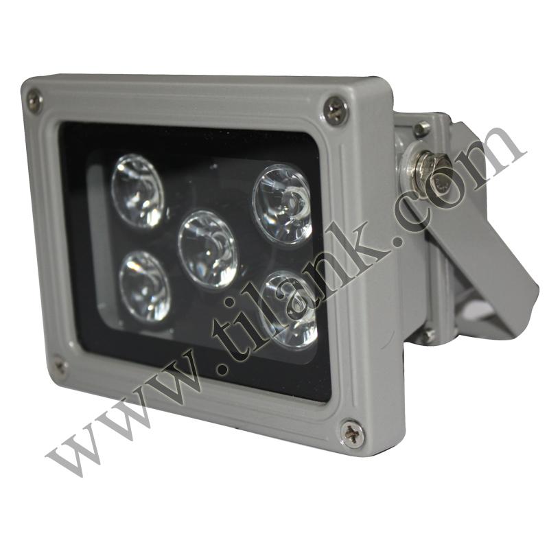 室外白光辅助触发抓拍闪光220V卡口照车牌道路监控补光灯LED