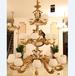 新中式全铜吊灯客厅灯具别墅复式楼大吊灯欧式复古大气全铜三层吊灯