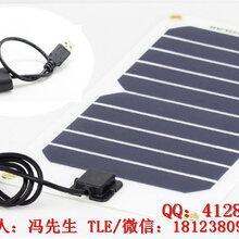 单晶硅太阳能电池板组件5V5W1A户外的灯山旅游骑行野营手机USB风扇供电设备图片